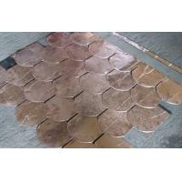 Durable Copper Waterproof Fish Scale Asphalt shingles / Fiberglass Roofing Tile