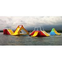 Cheap 0.9mm PVC Tarpaulin Inflatable Waterpark / Inflatable Water Games For Adults for sale