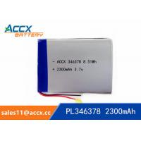 Quality 346378PL 3.7V 2300mAh Lithium Polymer Battery wholesale