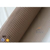 Quality 4 * 4 Heat Resistant PTFE Teflon Coated Fiberglass Mesh For Conveyor Belt wholesale