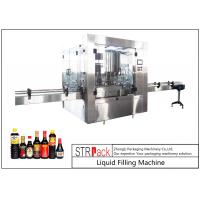 Quality 24 Head Nozzle Automatic Liquid Filling Machine For 0.5 - 2L Wine / Soy Sauce wholesale