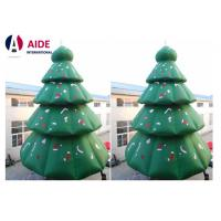 Quality Green Inflatable Christmas Tree , 8M Tall Blow Up Christmas Decorations wholesale
