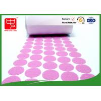 Durable white / pink small velcro dots In Rolls With 10mm - 150mm Diameter