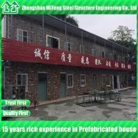 Quality Prefabricated light steel structure building modular house with cultural stone sandwich panel wholesale