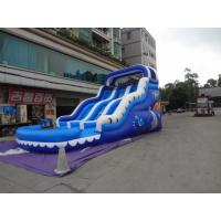 China Customers design Various colors 1000D PVC Tarpaulin Commercial Inflatable Slides on sale
