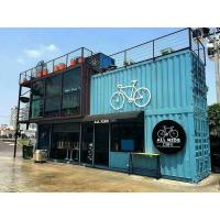 China Durable Prefabricated Container House / Shipping Container Construction Sliding Window on sale
