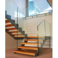 China Modern Steel Wood Straight Staircase Stairs with Customized Railing on sale