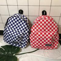 Quality 2018 new hip-hop fashion checkerboard circle label campus backpack for high school students wholesale