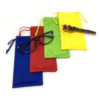 China recycled microfiber eyeglasses drawstring bags custom logo promotional drawstring pouch on sale