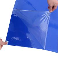 Quality Blue PE Disposable Sticky Mats 30 Layers Peelable For Cleanroom Door Entrance wholesale