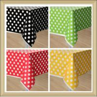 Quality party tableware Polka Dot Printed paperTable Covers Disposable PE Tablecloth wholesale