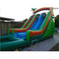 Quality PVC 0.55mm 18oz Inflatable Dual Lane Tropical Water Slide Inflatable slide commercial inflatable water slides for kids wholesale