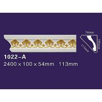 Quality Elegant Style PU Decorative Curved Moulding PU Wall Cornice 1022 wholesale