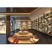 Cheap Fashion Showroom Display Cases / Shoe Display Unit Wooden Plus Metal Material for sale