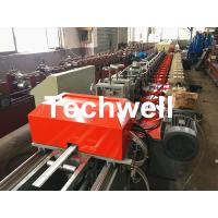 Quality 39 / 42 / 45 / 55 / 65 / 77mm PU Foam Roller Shutter Door Slat Roll Forming Machine With Servo Flying Saw Cutting wholesale