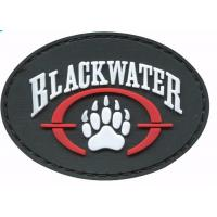 Quality Colorful Sticky Hook And Loop Patches , Novelty Pvc Rubber Military Patches For Clothing wholesale
