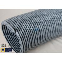 Quality PVC Coated Fiberglass Fabric Waterproof Flexible Ventilation Air Duct 200MM 260℃ wholesale