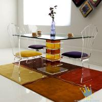 Quality acrylic seagrass coffee table set wholesale
