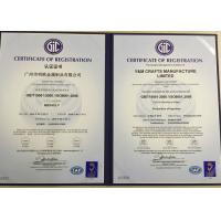 Y&M Crafts Manufacture Limited Certifications