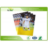 Quality School Lined Exercise Books , Football Star Coated Cover Writing Exercise Books wholesale