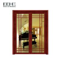 Quality Soundproof Aluminium Contemporary Entrance Doors , Red Aluminium Double Front Doors wholesale