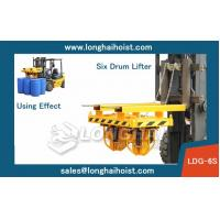 China Forklift Drum Clamp,China LONGSHENG Brand,Six Drum on sale