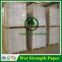 Quality 60g 70g 75g 80g 100g high wet strength paper for beer label wholesale