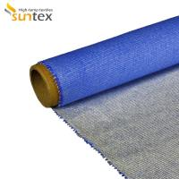 Quality Heat Insulation Silicone Coated Fiberglass Fabric For Fire / Smoke Curtain wholesale