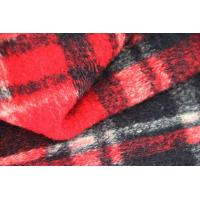 Quality Red And Blank  Squares Classics Winter Coat Lining Fabric Scottish Tartan Material wholesale