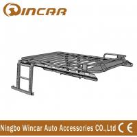 Quality Jeep Wrangler Automotive Roof Rack Basket Iron Body No Net With Ladders wholesale