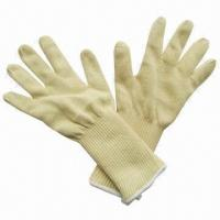 Quality Safety/Working Gloves, Made of Kevlar, Cutting-resistant, with Two Layers, Jumbo, Extra Long Gloves wholesale