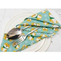 China Cotton Linen Personalized Wedding Dinner Napkins Washable Multi Color Choose on sale