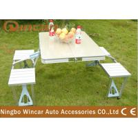 Quality Vehicle Camping Folding Table and Chair Set , Folding Picnic Tables wholesale
