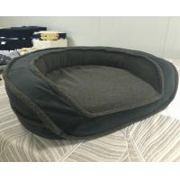 Quality Luxury Sofa Round Memory Foam Bolster Dog Bed Comfortable Soft Washable Pet Bed wholesale