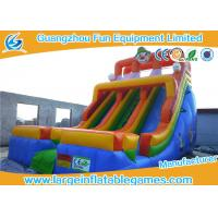 Quality Multicolor Giant Commercial Inflatable Slide World Clown Bouncer Slide For Kids wholesale