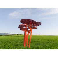 China Contemporary Corten Sculpture With Umbrella Tree Shape As External Lawn Ornament on sale