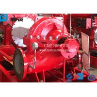 China High Performance Split Case Fire Pump , Fire Fighting Water Pump 180kw Shaft Power on sale