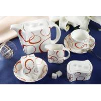 Quality 15 pieces Porcelain coffee set wholesale
