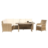 Quality H840mm W550mm Wicker Sofa Set , Rattan Outside Sofa For Living Room wholesale