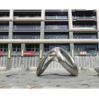 Quality Popular Mirror Exterior Stainless Steel Sculpture Garden Ornaments 2.2 Meter Length wholesale