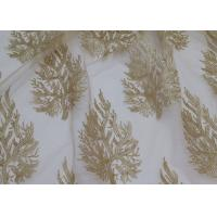 Quality Embroidered Tree Gold Sequin Lace Fabric By The Yard For Wedding Bridal Evening Dress wholesale