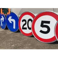 Visibility 100 - 800m Custom Reflective Road Signs OEM Aluminum Traffic Signs for sale