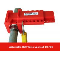 Cheap Allow 7 Padlocks PP Material Economic Ball Valve Lockout for Ball Valves for sale