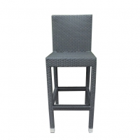 Quality Height 106cm 44cm Depth Rattan Wicker Bar Stools With Aluminum Frame wholesale