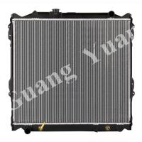 Quality 16400 75180 / 16400 75190 Toyota Aluminum Car Radiators For PRADO 95-98 VZJ95 AT DPI 1998 wholesale