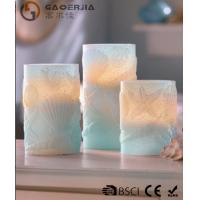 Quality 3 Set Scented Battery Operated LED Candles with Seashell Starfish wholesale