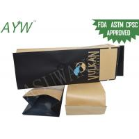 Quality Brown Paper Coffee Bean Packaging Bag Aluminum Foil With One Way Valve wholesale