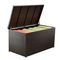 Quality Brown Rattan Wicker Stylish Square Outdoor Cushion Box wholesale