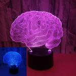 Quality Brain shape colorful 3D visual night lights LED colorful lights 3D touch lights Creative color desktop night light wholesale