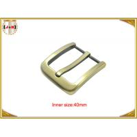 Quality Gold Zinc Alloy Pin Metal Belt Buckle / Mens Fashion Belt Buckles wholesale
